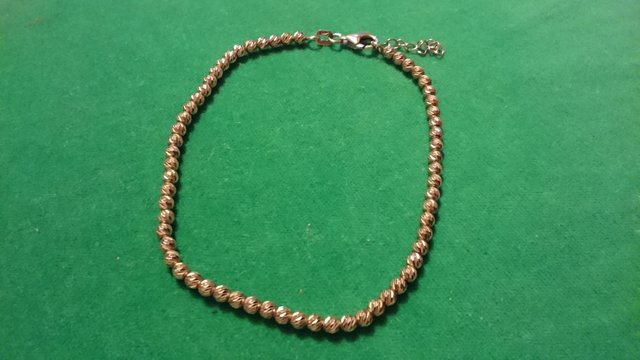 Image 2 of Vintage 925 silver with gold-plated tennis bracelet