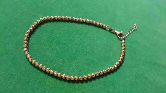 Image 3 of Vintage 925 silver with gold-plated tennis bracelet