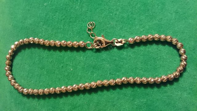 Image 6 of Vintage 925 silver with gold-plated tennis bracelet