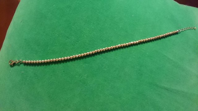 Image 7 of Vintage 925 silver with gold-plated tennis bracelet