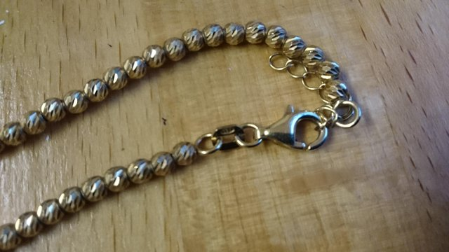 Image 10 of Vintage 925 silver with gold-plated tennis bracelet