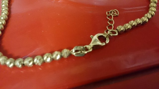 Image 11 of Vintage 925 silver with gold-plated tennis bracelet