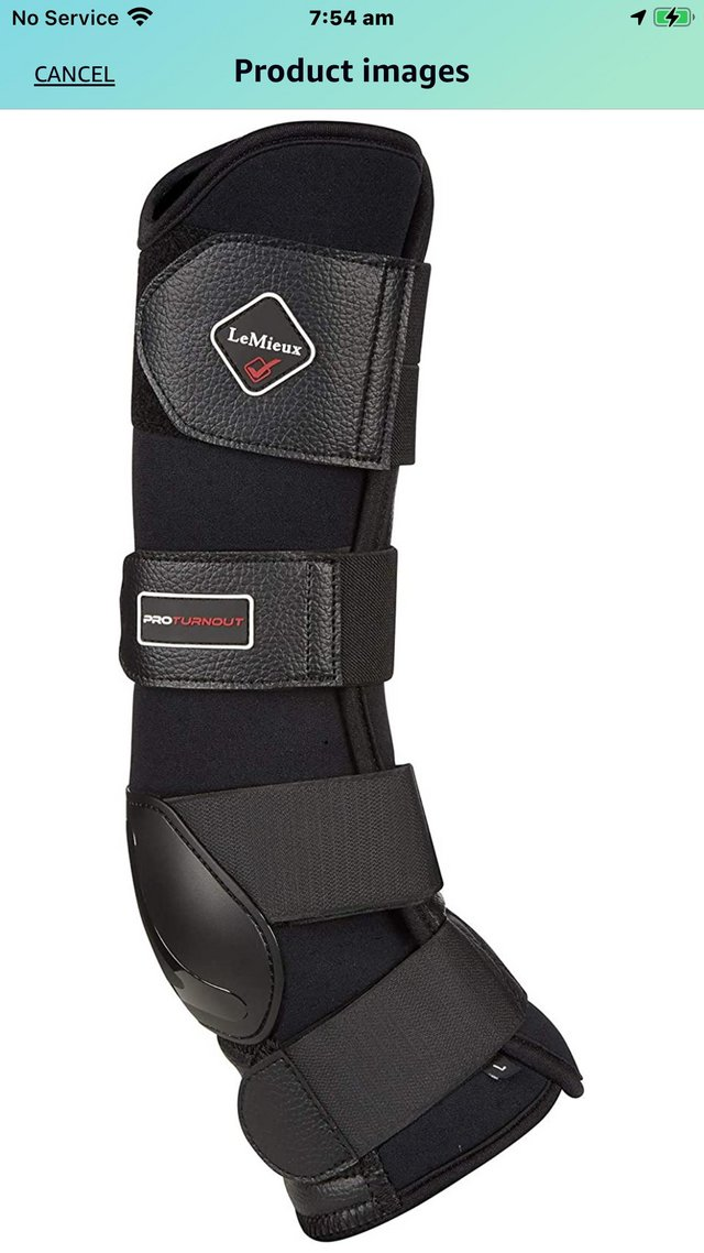 Preview of the first image of Le Mieux Turnout boots full set of size Medium.