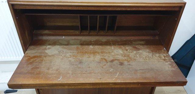Image 6 of VintageMid century bureau / writing desk