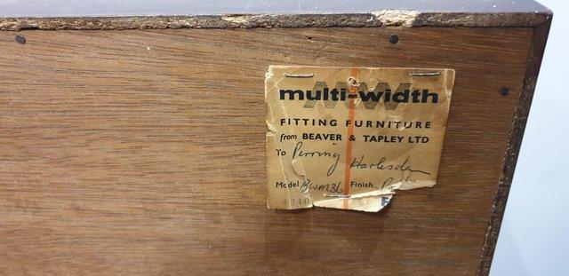 Image 12 of VintageMid century bureau / writing desk