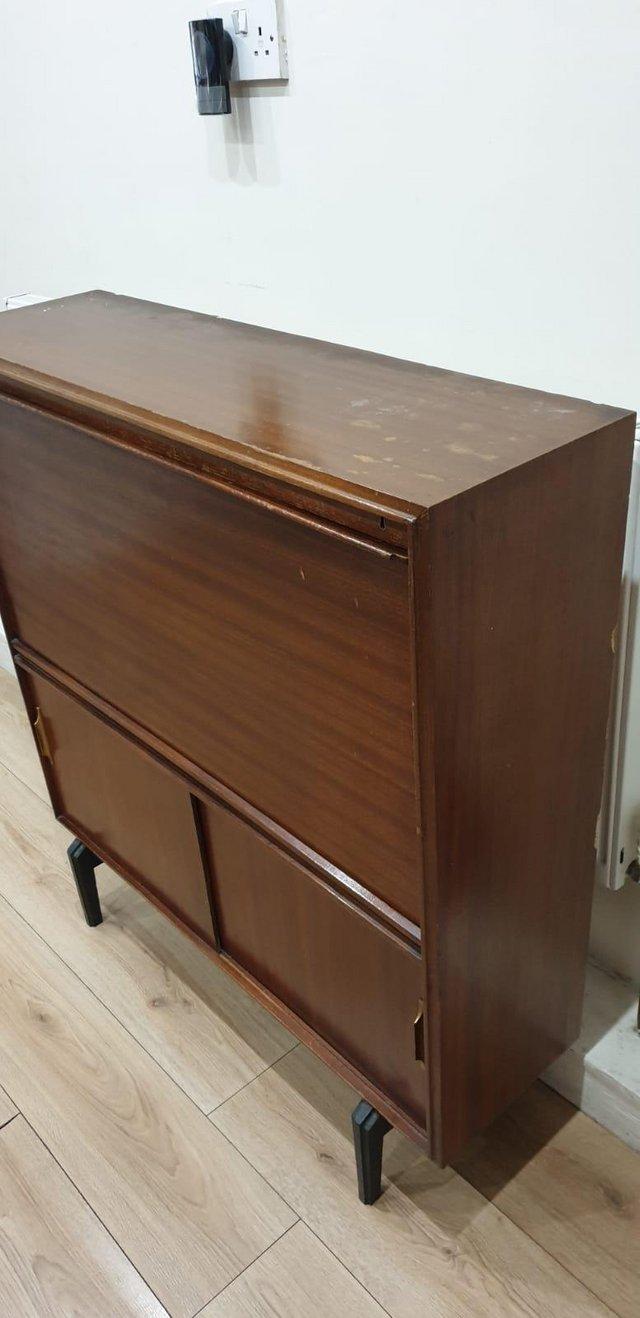 Image 13 of VintageMid century bureau / writing desk