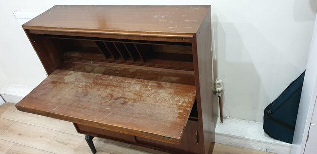 Image 15 of VintageMid century bureau / writing desk
