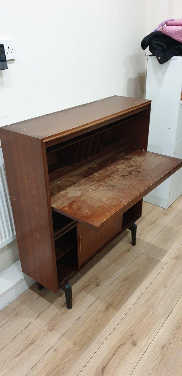 Image 16 of VintageMid century bureau / writing desk