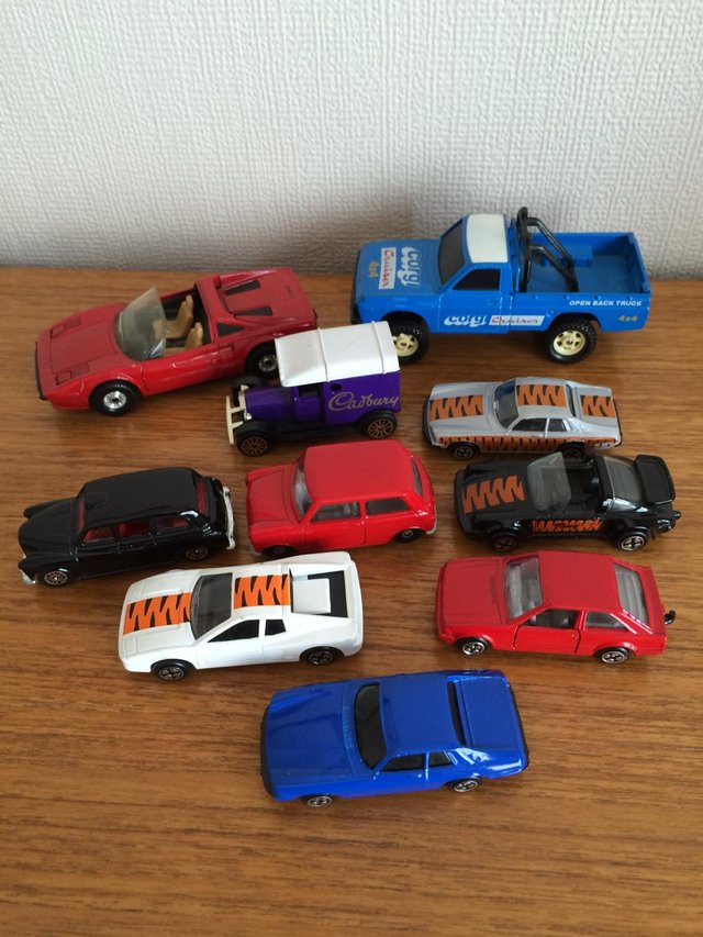 Preview of the first image of VINTAGE CORGI / JOB LOT 10 DIECAST VEHICLES / CARS / VANS.