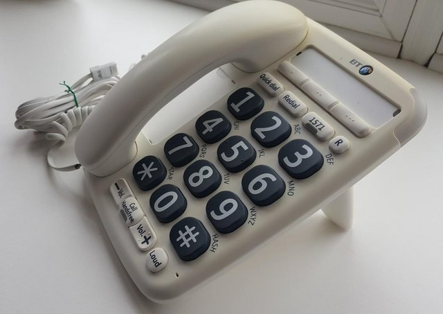Preview of the first image of BT BIG BUTTON (200) CORDED PHONE with USER GUIDE.