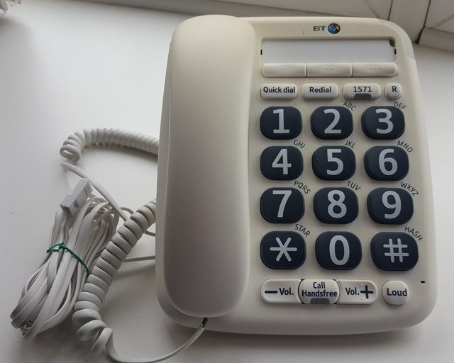 Image 3 of BT BIG BUTTON (200) CORDED PHONE with USER GUIDE