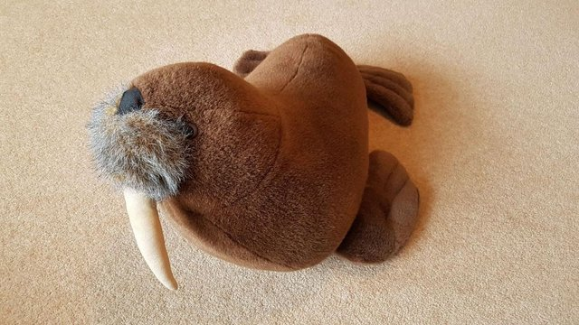 Preview of the first image of Sea World Large Walrus Soft Toy.