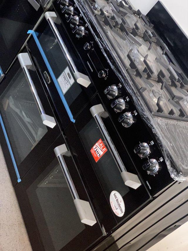Image 4 of LEISURE CUISINEMASTER 110CM DUAL FUEL BLACK RANGECOOKER (HD)