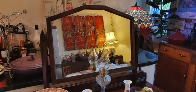 Image 3 of All Original, Circa 1920s - 40s, Solid Oak Dressing Table