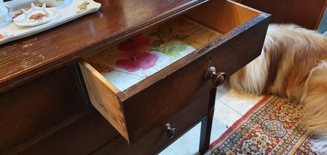 Image 10 of All Original, Circa 1920s - 40s, Solid Oak Dressing Table