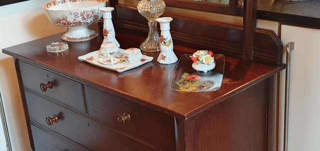 Image 11 of All Original, Circa 1920s - 40s, Solid Oak Dressing Table