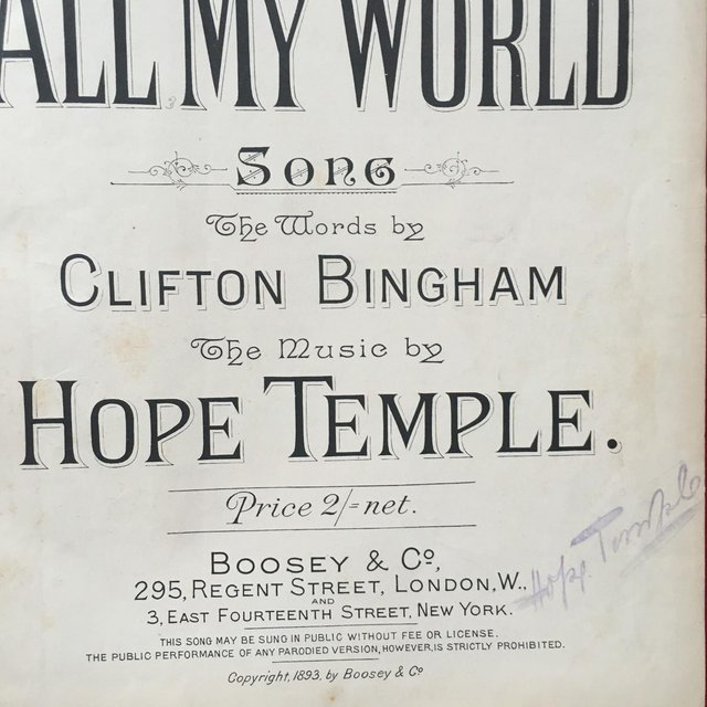Image 2 of Antique 19th century h/back book of sheet music.