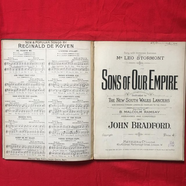 Preview of the first image of Antique 19th century h/back book of sheet music..