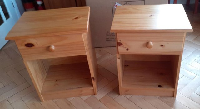 Image 2 of Matching bedside tables, single wardrobe, desk and stool
