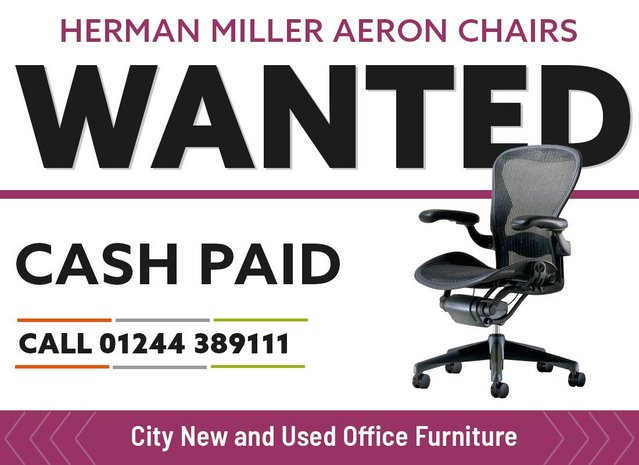 Preview of the first image of Herman Miller Aeron Chairs Wanted!.
