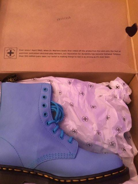 Preview of the first image of Dr Martens Pascal Wild Aqua women's boots.