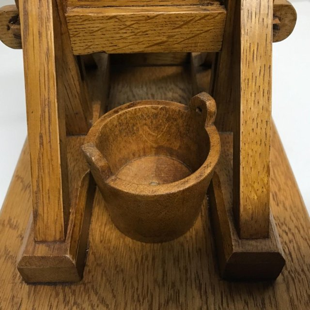 Image 2 of French Guillotine desks top cigar cutter in oak