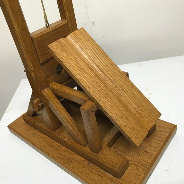 Image 4 of French Guillotine desks top cigar cutter in oak
