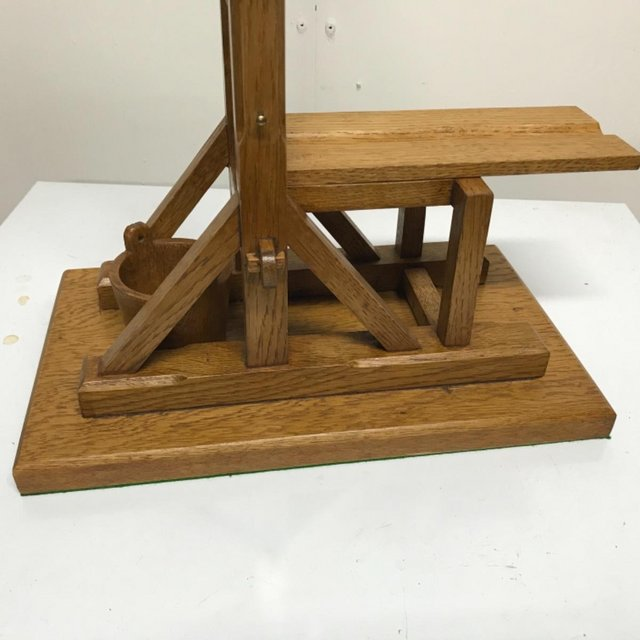 Image 7 of French Guillotine desks top cigar cutter in oak