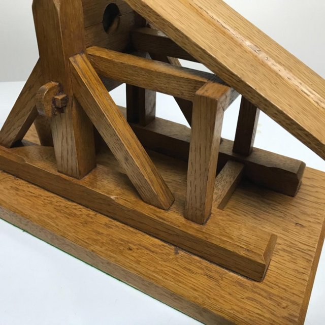 Image 11 of French Guillotine desks top cigar cutter in oak