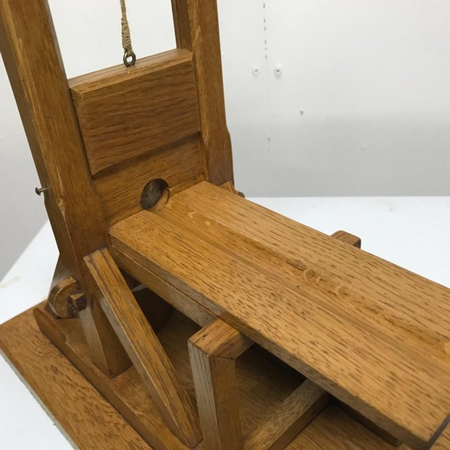 Image 12 of French Guillotine desks top cigar cutter in oak