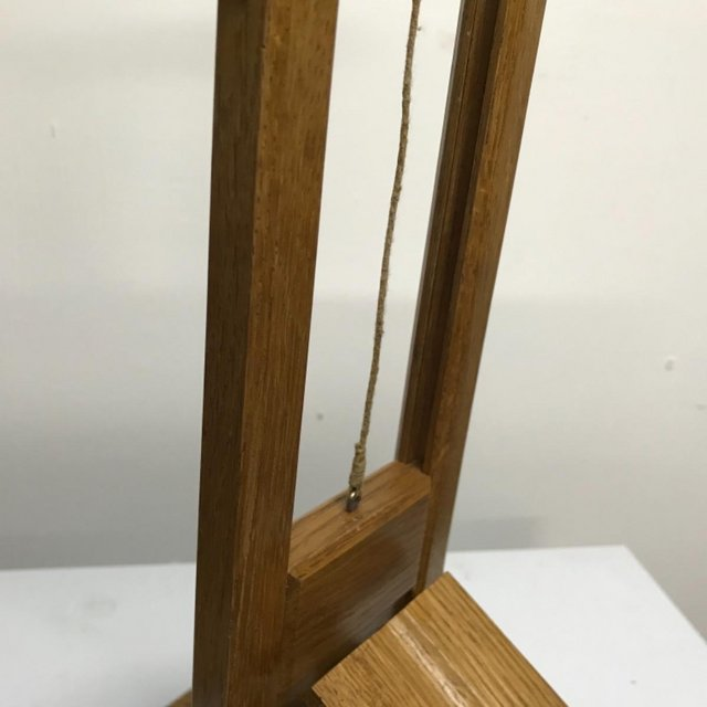 Image 14 of French Guillotine desks top cigar cutter in oak