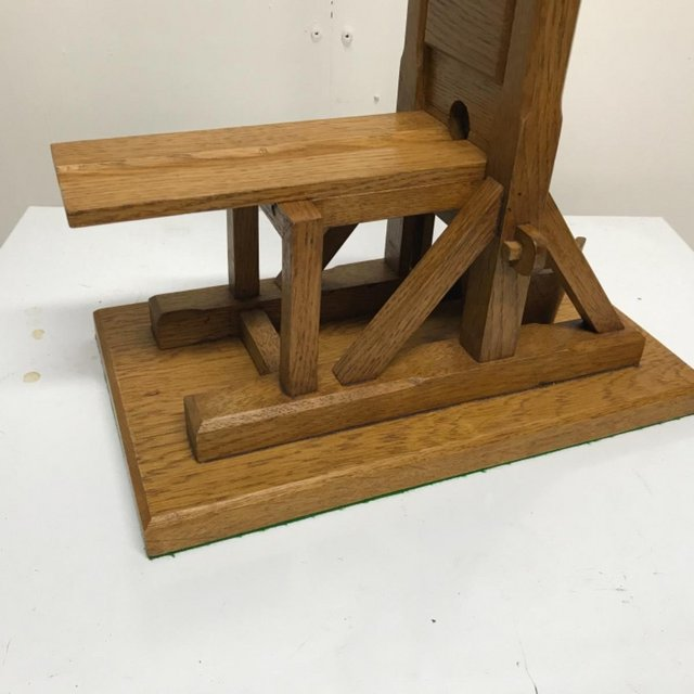 Image 15 of French Guillotine desks top cigar cutter in oak