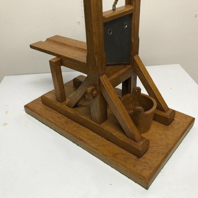 Image 16 of French Guillotine desks top cigar cutter in oak