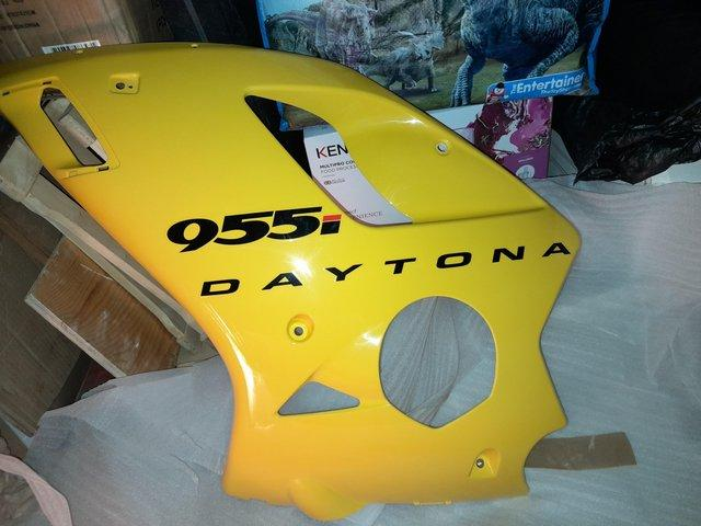 Preview of the first image of Full set of panels and fairings for 2003 Triumph Daytona 955.