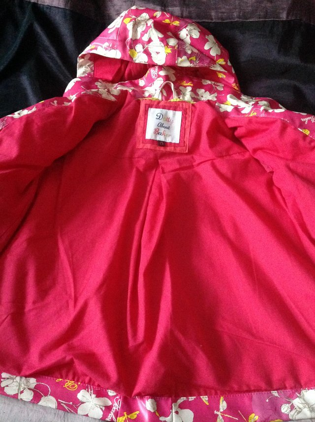 Image 2 of Ted Baker girl's floral rain mac Age 3-4 years