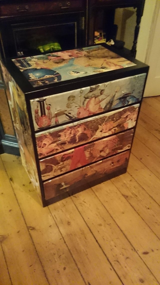 Preview of the first image of Original 1970s Bosch inspired chest of draws.