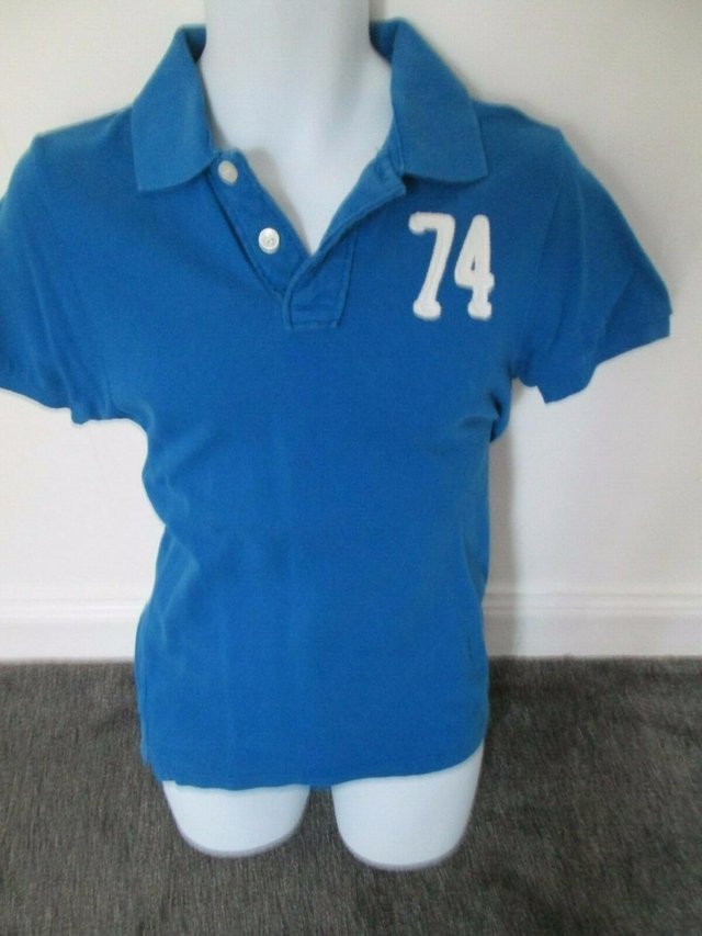 Preview of the first image of CEDARWOOD STATE - BLUE POLO shirt size XS.