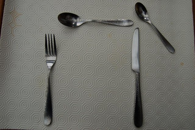 Image 2 of Viners 'Glamour' & 'Old English' Stainless Vintage Cutlery