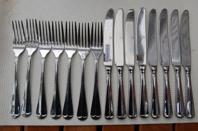 Image 6 of Viners 'Glamour' & 'Old English' Stainless Vintage Cutlery