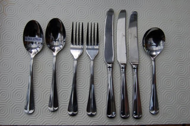 Image 7 of Viners 'Glamour' & 'Old English' Stainless Vintage Cutlery