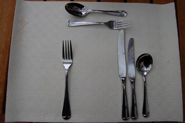 Image 8 of Viners 'Glamour' & 'Old English' Stainless Vintage Cutlery