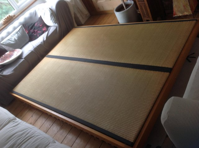 Preview of the first image of TATAMI MATTING KING SIZE ORIENTAL BED BASE.