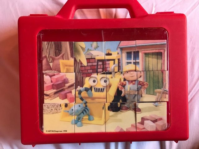 Preview of the first image of Vintage BOB the BUILDER Cube puzzle..