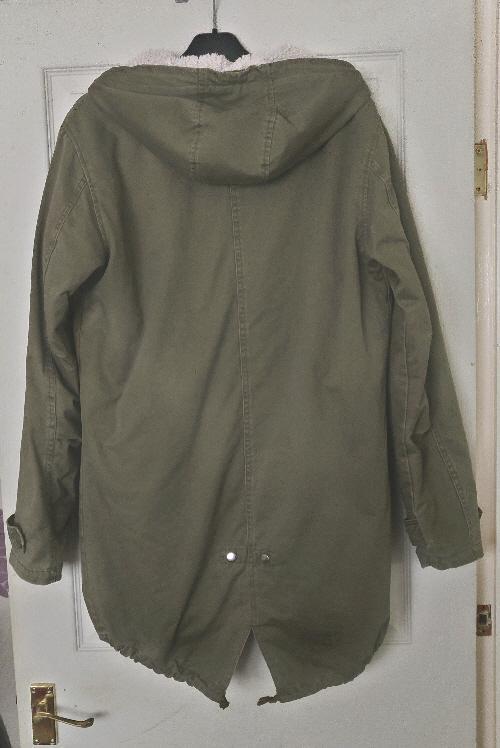 Image 2 of Ladies/Mens Khaki Fleece lined Parka - Size S