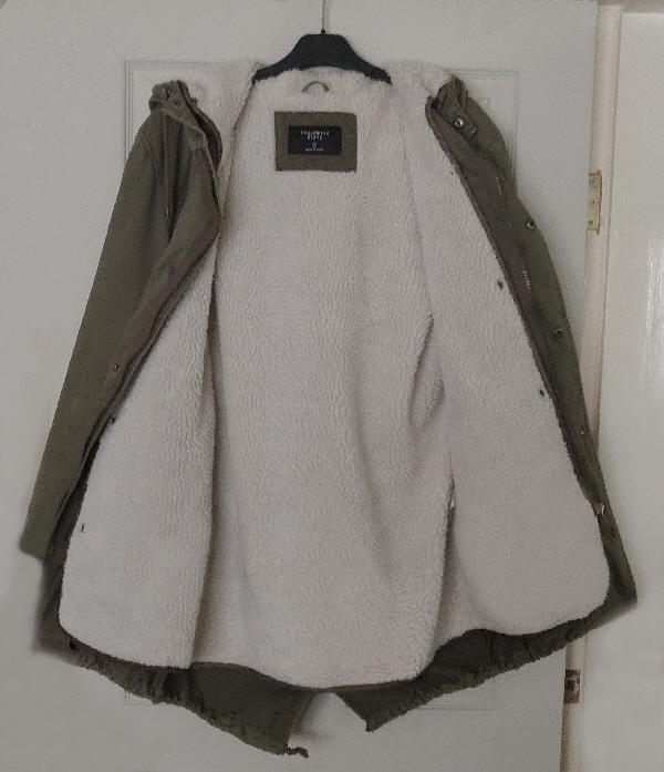 Image 3 of Ladies/Mens Khaki Fleece lined Parka - Size S