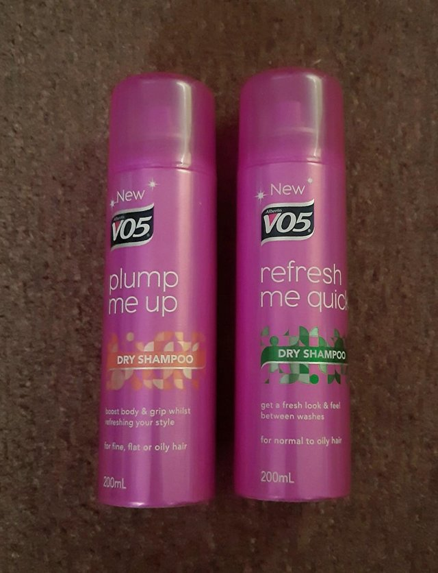 Preview of the first image of 2 Bottles Of V05 Dry Shampoo.