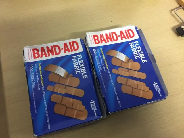 Preview of the first image of 2X BAND-AID Flexible Fabric Adhesive Bandages 100 Assorted S.