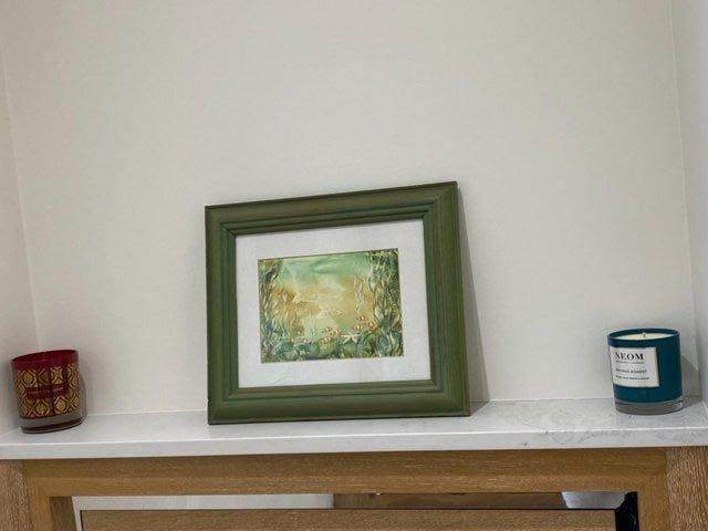 Preview of the first image of PAINTING HANDPAINTED WAX USING IRON ENCAUSTIC ARTWORK MARINE.