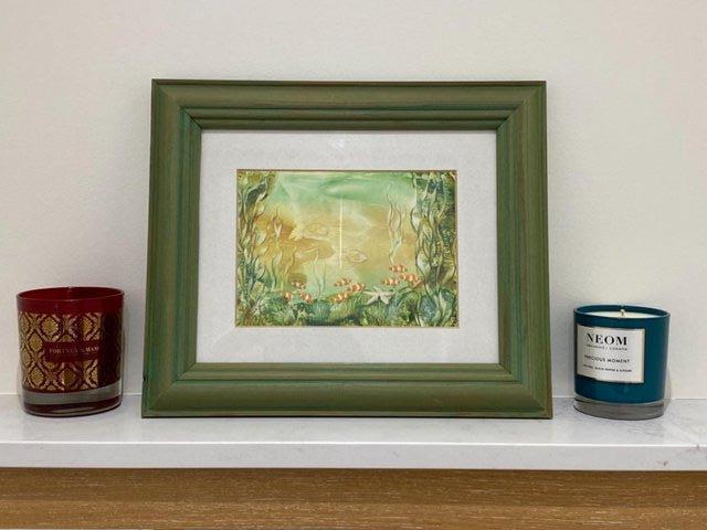 Image 4 of PAINTING HANDPAINTED WAX USING IRON ENCAUSTIC ARTWORK MARINE