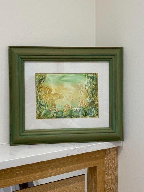 Image 8 of PAINTING HANDPAINTED WAX USING IRON ENCAUSTIC ARTWORK MARINE